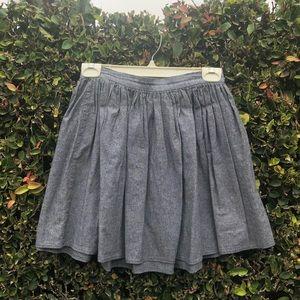 Gray Chambray American Apparel Circle Skirt